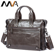 Messenger Bag Men's Genuine Leather Laptop Bags Messenger Shoulder Bags for Men Luxury Male Briefcase bag Leather Handbags  9103