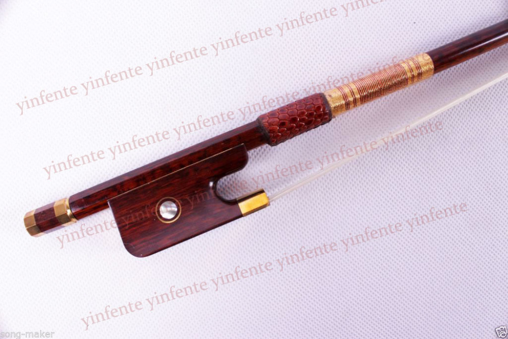 One cello bow Snakewood Round Stick French Style Parisian Eyes 4/4 New 3 4 cello bow carbon fiber round stick ebony fro g high quality new dt 041