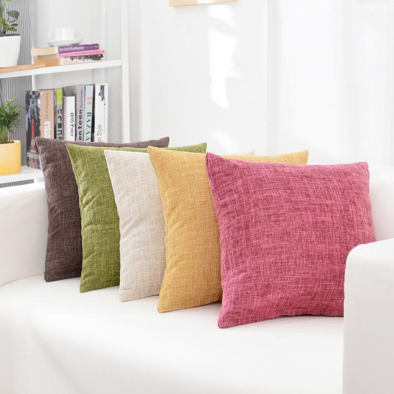 Solid Sofa Waist Cushion Cover Pillow 30x50/40x40/45x45/40x60/50x50/55x55/60x60cm Cheaper Decorative Throw Pillowcase  for Home