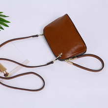 2018 Hot Sale Promotion Interior Compartment Polyester Genuine Leather Women Solid Shoulder Handbags Fahion Small Crossbody