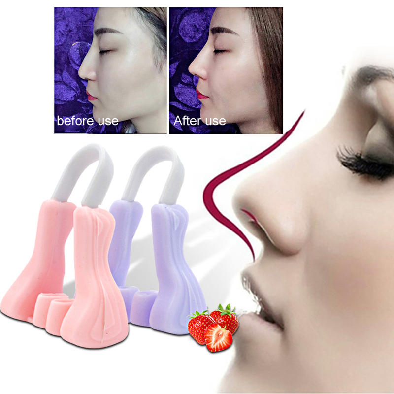 1Pc Shaper Lifting Bridge Straightening Beauty Reduce Nose Clip Face Elevated Device No Pain Noses Up Shaping Dropping Shipping
