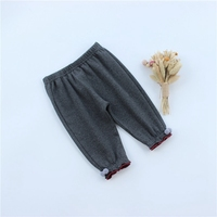 Fashion autumn   Baby   Kids Children Girls Infants Cotton Solid color Bloom   pants   Slim Trousers Princess basic casual   Pants   C725