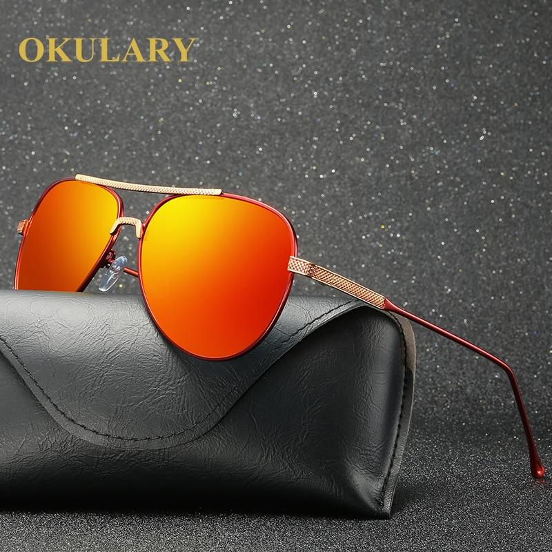 2019 Polarized Mirror Women Sunglasses 3 Colors Blue Black Orange Lens UV400 Metal Frame