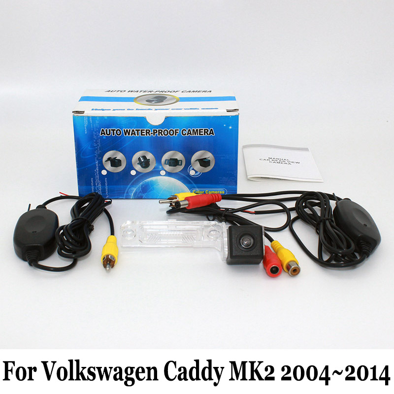 HD CCD Night Vision Rear View Camera For Volkswagen VW Caddy MK2 2004 2014 RCA Wired