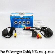 Hd ccd de visión nocturna cámara de visión trasera para volkswagen vw caddy MK2 2004 ~ 2014/RCA Con Cable O Inalámbrico/Lente Gran Angular cámara