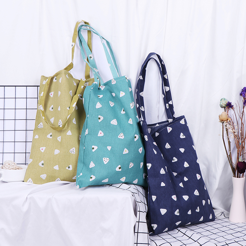 Women1x Pattern Linen Bag Tote Environmental Storage Handbag Reusable Foldable Eco Grocery Totes