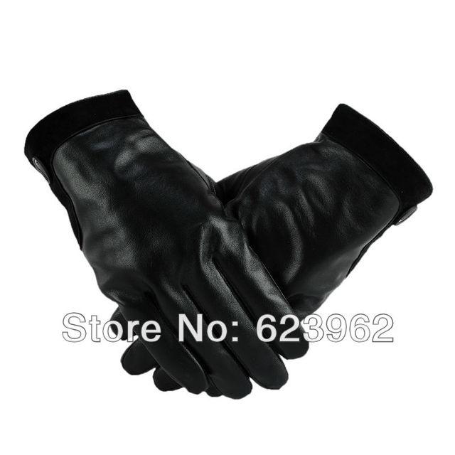 Good quality sheep skin women winter warm gloves ML XL