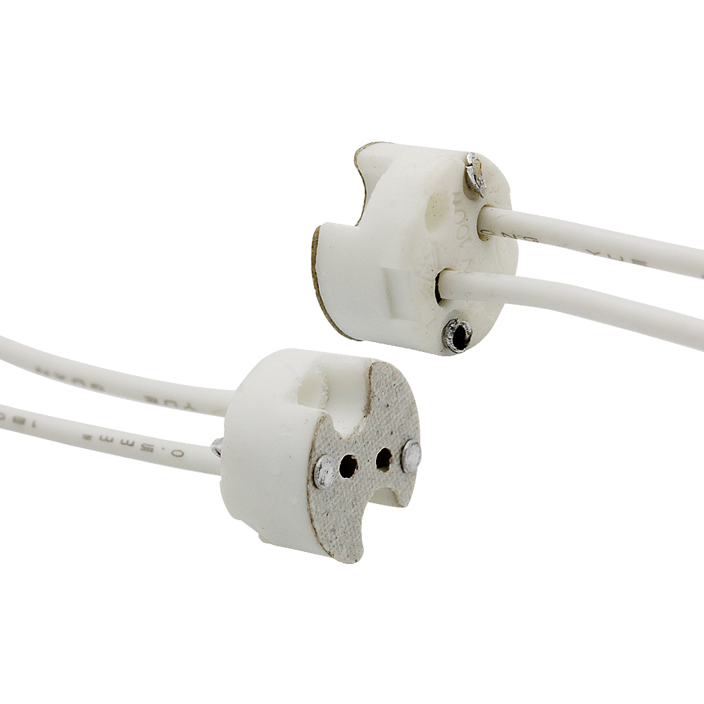 MR16 G4 ceramic connectors halogen lamp light fittings with short wire
