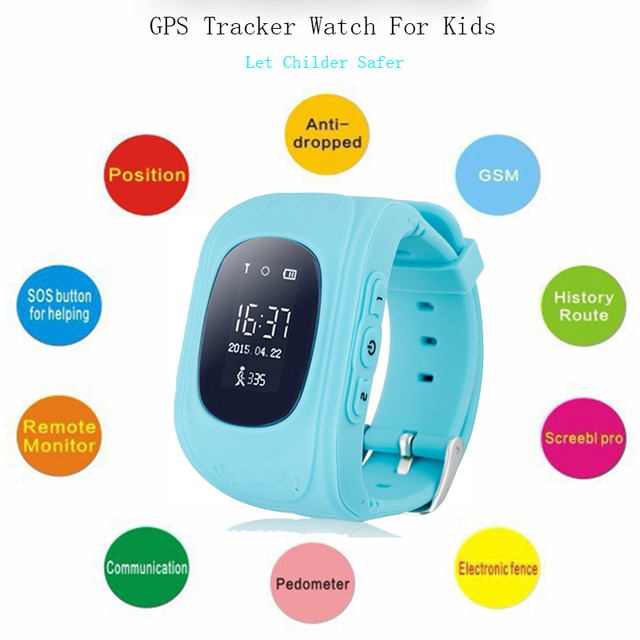 Children Smart Watch Phone Gps Tracker Child Guard Anti-Lost Monitor GSM GPRS Locator For kid Wearable Devices Smart Electronics