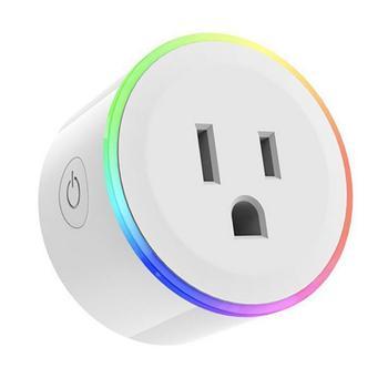 Toma de corriente de Control remoto WiFi inteligente USPlug Home 1100 W con control de lámpara de noche redonda, fácil operación 10A