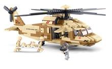 Sluban UH-6OL Military Series Black Hawk Helicopters Building Blocks Fighter Bricks Toys Gift Compatible With Legoe