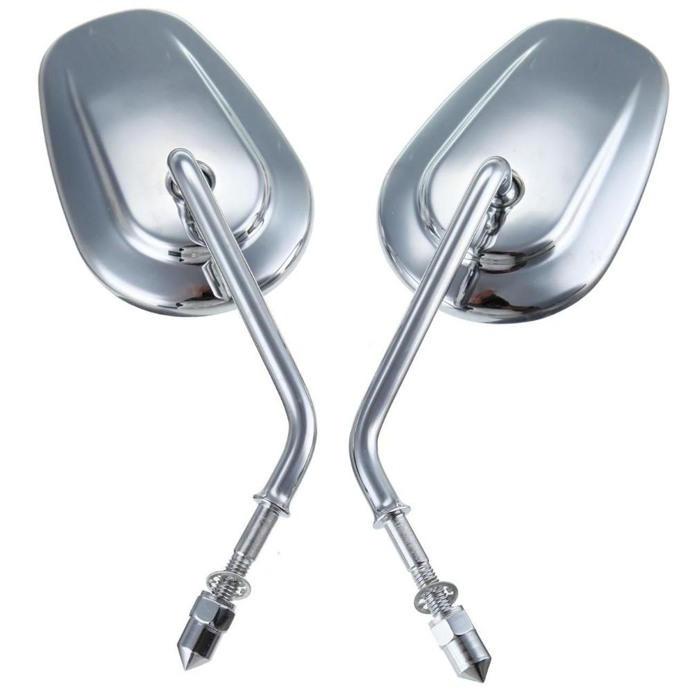 Pair For HARLEY DAVIDSON FLSTC FXDB DYNA FXDF FLSTF SOFTAIL XL chrome Rear View Side Mirrors Motorcycle