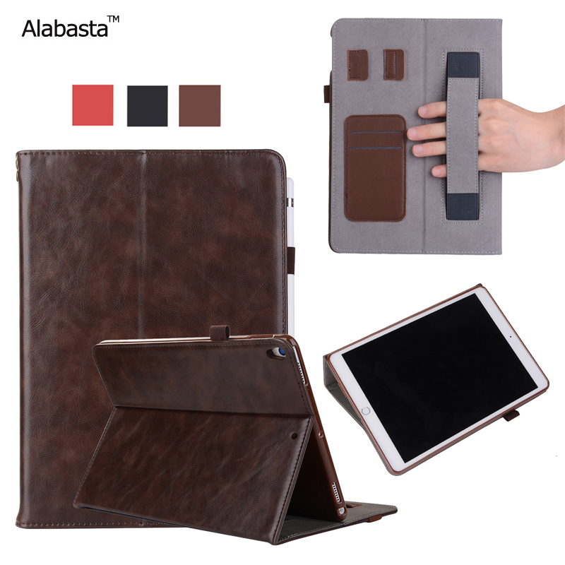Alabasta For iPad pro 10.5 Funda Case Upscale Leather Surface + Silicone Protector Card Pocket bag Smart Stand Case With stylus alabasta for funda cover ipad 2017 case 9 7 inch luxury grid tassels rhinestone bag stand protector leather surface shield
