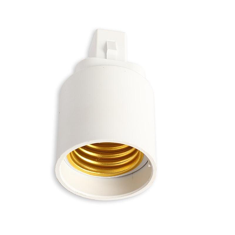 D1U# G24 To E27 Socket Base LED Halogen CFL Light Bulb Lamp Adapter Converter Holder Plastic Plug Extender Light Use Holder