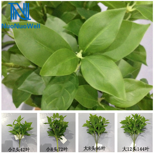 nuonuowell plant wall decoration leaves bunch mini tree green