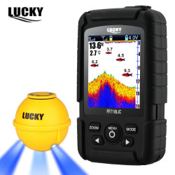 LUCKY FF718LIC-WLA Fish Finder Wireless Fishfinder Fishing Sonar 45M/147Feet Depth Sounder Echosonda Echolot Echo Sondeur Deeper