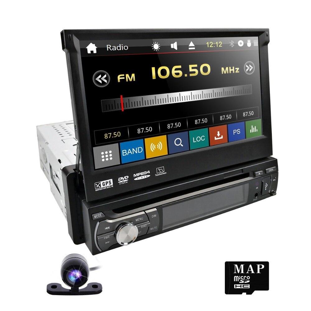 Hizpo One Din Съемная панель автомобиля Steoro зеркало Ссылка сенсорный экран DAB + Радио HD навигация по Bluetooth Бесплатная камера заднего вида 1080