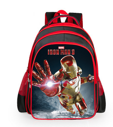 6c2842c009 2018 Hot Cartoon Superhero Iron Man Backpacks For Kids Children School Bags  Primary Backpack Boys Mochila-in School Bags from Luggage   Bags on ...
