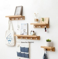 Porch clothes hooks racks wall hangings creative coat hook wall coat hat rack hanger wall coat hooks Mix and match combinations