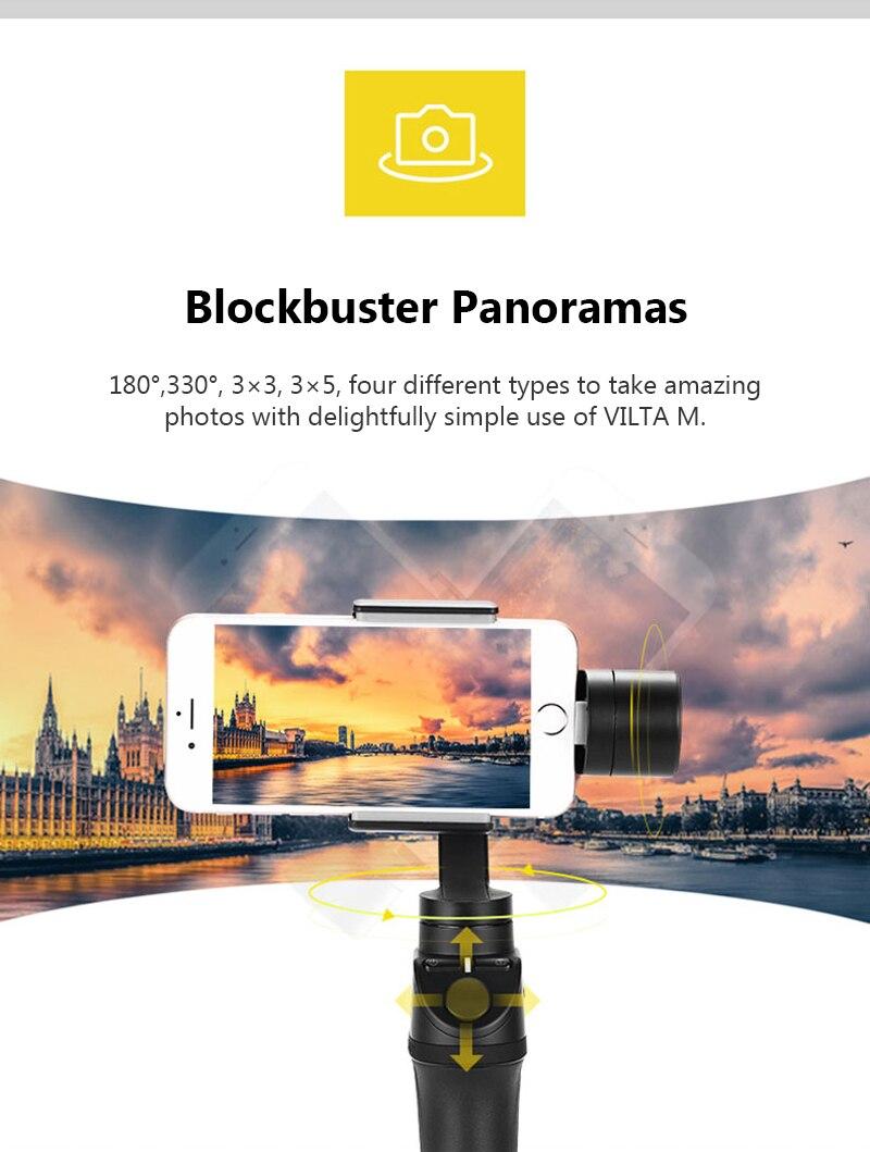 Freevision Vilta-M 3-axis Handheld Gimbal Smartphone Stabilizer for iPhone X 5 6s 8 Samsung GoPro HERO5 4 3 Yi 4K pk osmo 2 dji 3