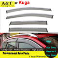 A&T Windows visor car styling Car - Styling Awning Shelters Rain Sun Window Visors For Kuga Escape 2013 2014 2015 Stickers