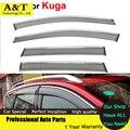 A & T do Windows viseira car styling Carro-Styling Abrigos Toldo chuva Sun Viseiras Da Janela Para Kuga Fuga 2013 2014 2015 adesivos