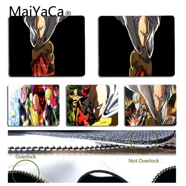 MaiYaCa Boy Gift Pad One Punch Man Anime Mouse Pad for Laptop Laptop Gaming Mice Mousepad