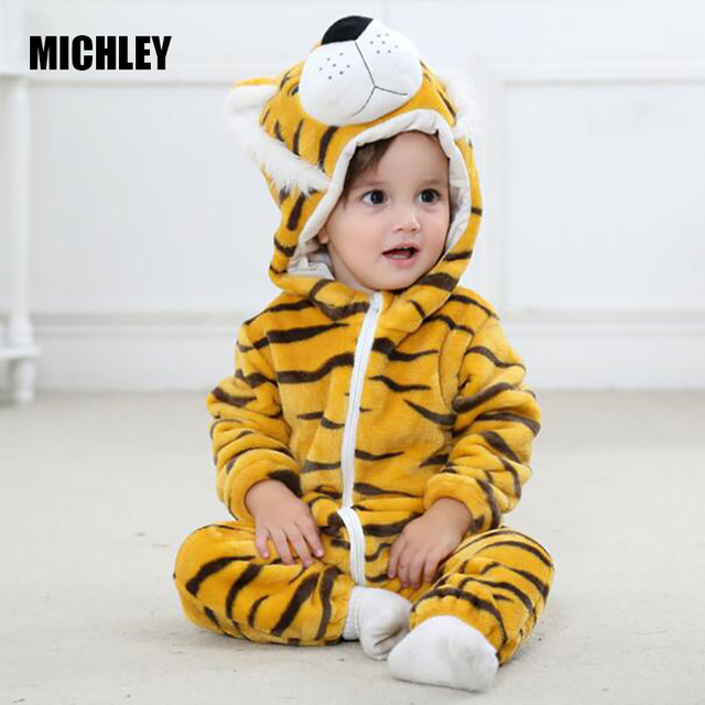 aaeebcce9 MICHLEY Baby Clothes New Tiger Infant Romper Baby Boys Girls Jumpsuit New  Born Bebe Baby Clothing