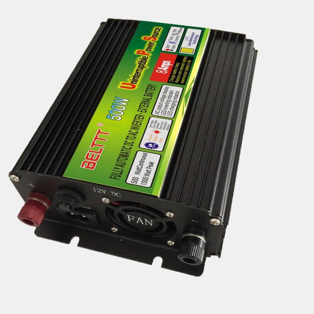 Free Shipping dc12v to ac 220v/230v 500W UPS power inverter with  battery chargerFree Shipping dc12v to ac 220v/230v 500W UPS power inverter with  battery charger