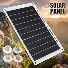 5V 10W Portable Ultra Thin Monocrystalline Silicon USB Solar Panel Charger Outdoor Solar Charging Board