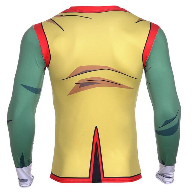 Dragon Ball Z  3D Vegeta Goku Piccolo Super Saiyan Base Layer T Shirt