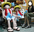Sells Japanese anime One Piece Monkey-D-Luffy Cute Anime Plush Doll Toys Approximately 150 CM Birthday Gift Free shipping by EMS