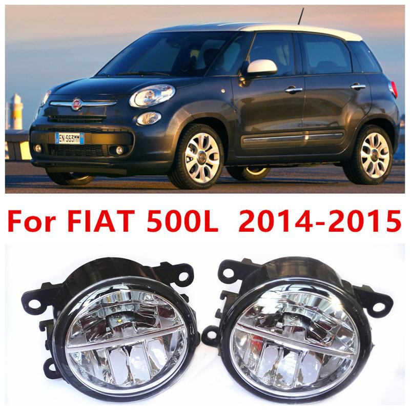 ФОТО For FIAT 500L  2014-2015 Fog Lamps LED Car Styling 10W Yellow White 2016 new lights