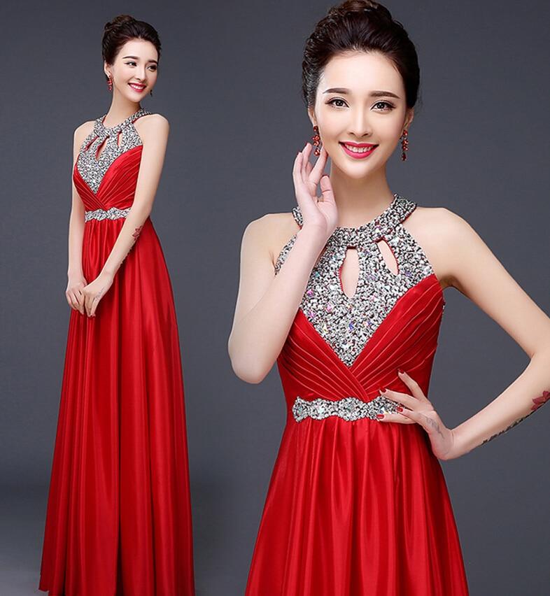 Sexy Burgundy Formal Bridesmaid Dress Women Halter Wedding Party Gown Chiffon Long Bridesmaid Dresses 2018 Plus Size Maxi 2-26w