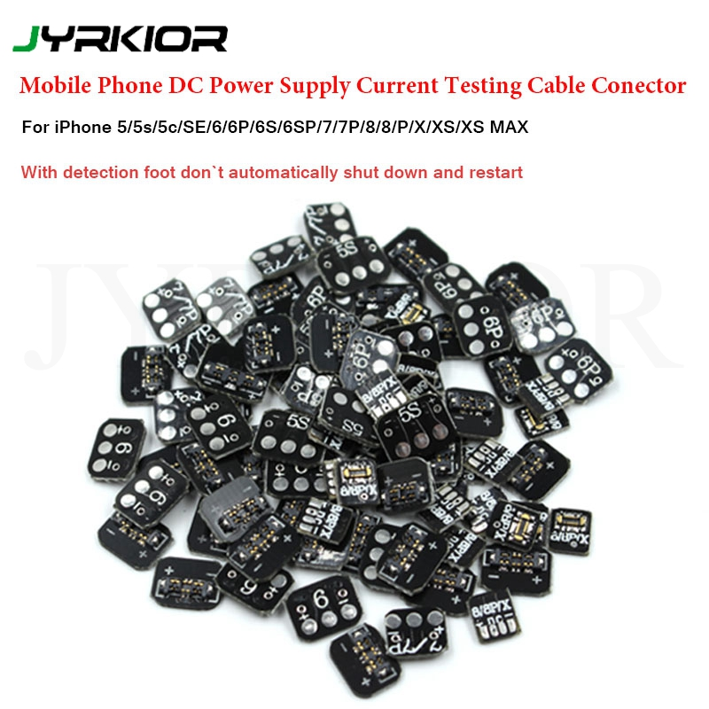 Jyrkior For IPhone 5S/SE/6/7/8/X/XS Mainboard Clip Battery Maintenance Male Buckle DC Power Supply Test Cable Connector