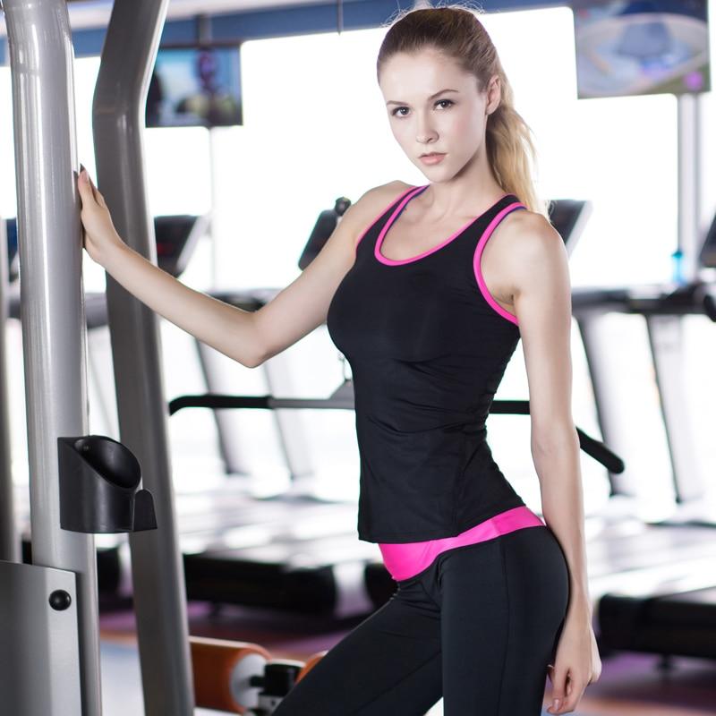 YEL 2016 Quick Dry Sleeveless Shirts Women Fitness Training Athletic Vest Running Workout Sports White Yoga Suit Shirt Tank Tops