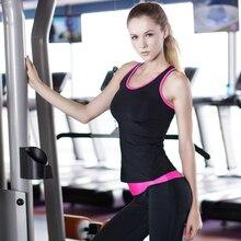 YEL 2016 Quick Dry Sleeveless Shirts font b Women b font Fitness Training Athletic Vest Running