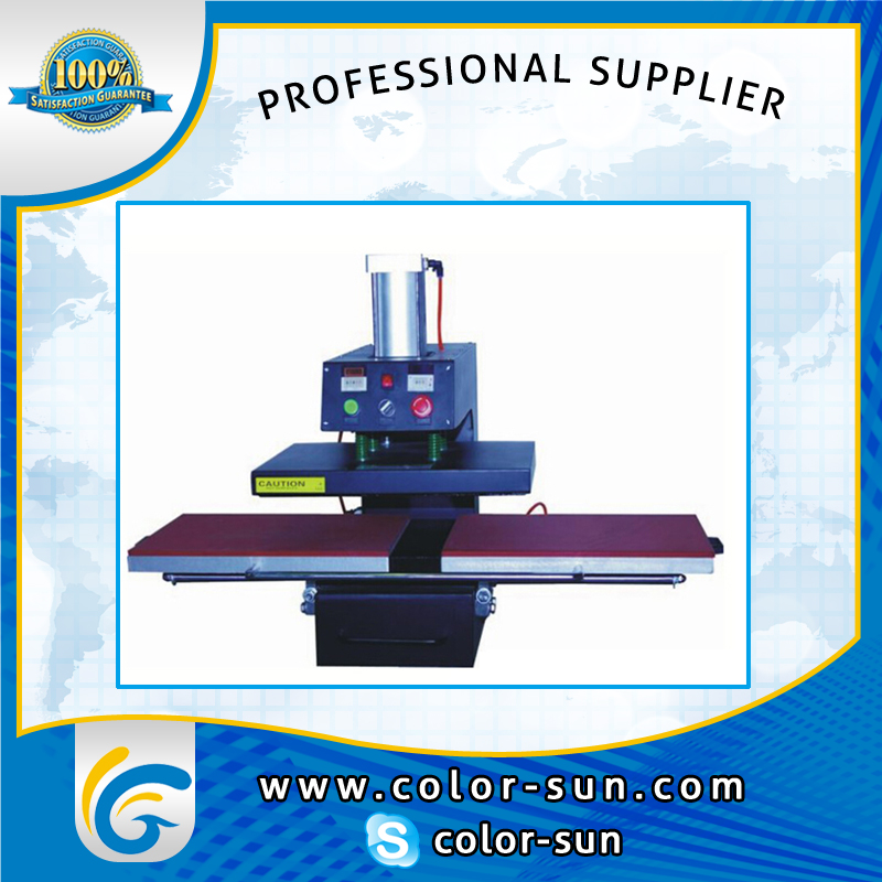 pneumatic heat press machine double place for size 40*50cm 2015 new style manual heat press machine for tshirt garments clothes