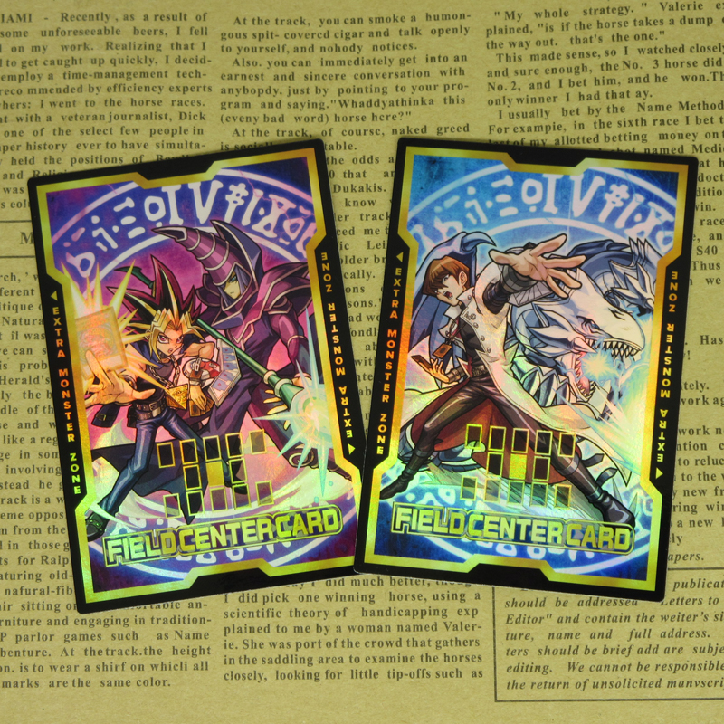 2pcs/set Yu-Gi-Oh! Field Center Card Yugi Muto Dark Magician Kaiba Blue-Eyes White Dragon Classic Altered Art Foil Proxy Cards