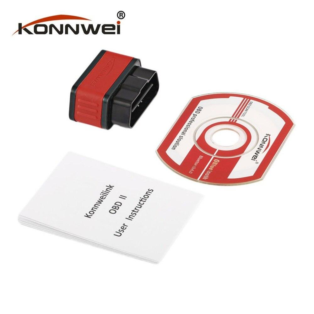 Konnwei KW903 ELM327 <font><b>Bluetooth</b></font> <font><b>ODB2</b></font> автомобиля диагностический сканер детектор инструмент код читателя для <font><b>Android</b></font> для IOS OBDII Авто сканер