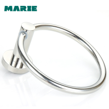 Stainless Steel Round Style Wall Mounted Towel Ring Holder Hanger Bathroom Classic Modern