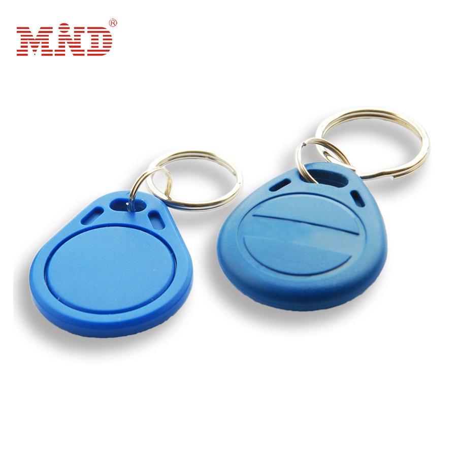 10pcs 125Khz Proximity RFID T5577 Smart Card Read and Rewriteable Token Tag Keyfobs Keychains EM4200 Access Control