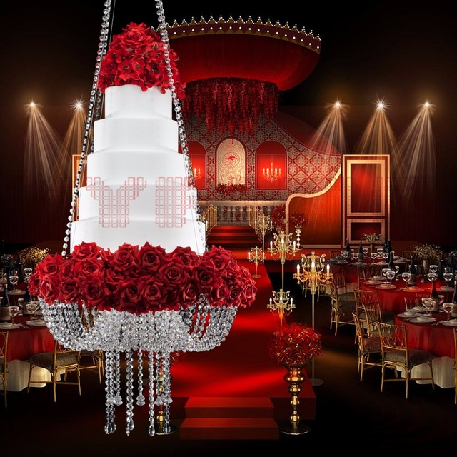 Big Tall Cake Stand Crystal Acrylic Cake Table Centerpieces Crystal