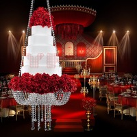 Big Tall Cake Stand Crystal Acrylic Cake Table Centerpieces Crystal Wedding Cake Holder Flower Display Dia=60cm 23.6 )