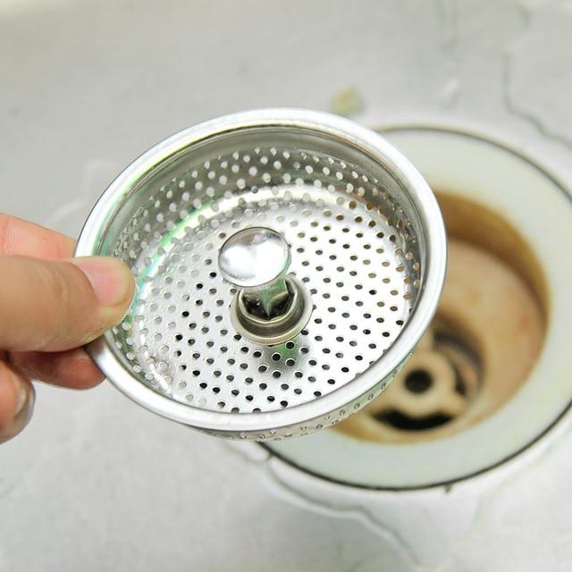 Kitchen Sink Filter: DONYUMMYJO Stainless Kitchen Sink Strainer Water Drain Plug Sink Stopper Filter Hair Catcher
