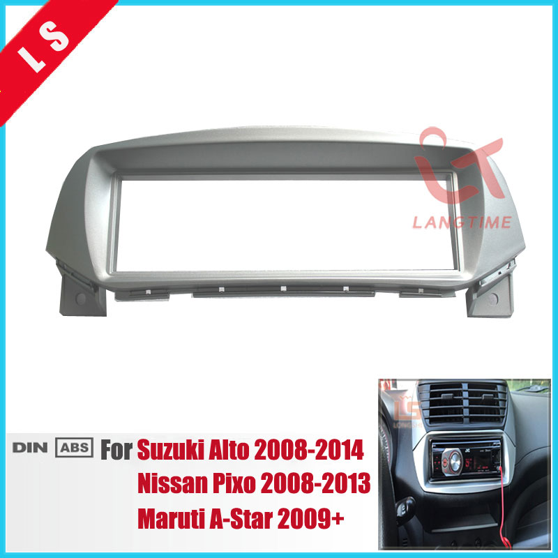 1 Din Car Refitting Radio Fascia for 2008-2014 Suzuki Alto Nissan Pixo Maruti A-Star Dash CD Player Audio Fitting Adaptor 1DIN ...