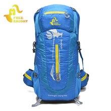 FREEKNIGHT 50L Waterproof Nylon Outdoor Backpack Unisex Large Backpacks Travel Bags Durable Camping Rucksack Mochila XA32WA