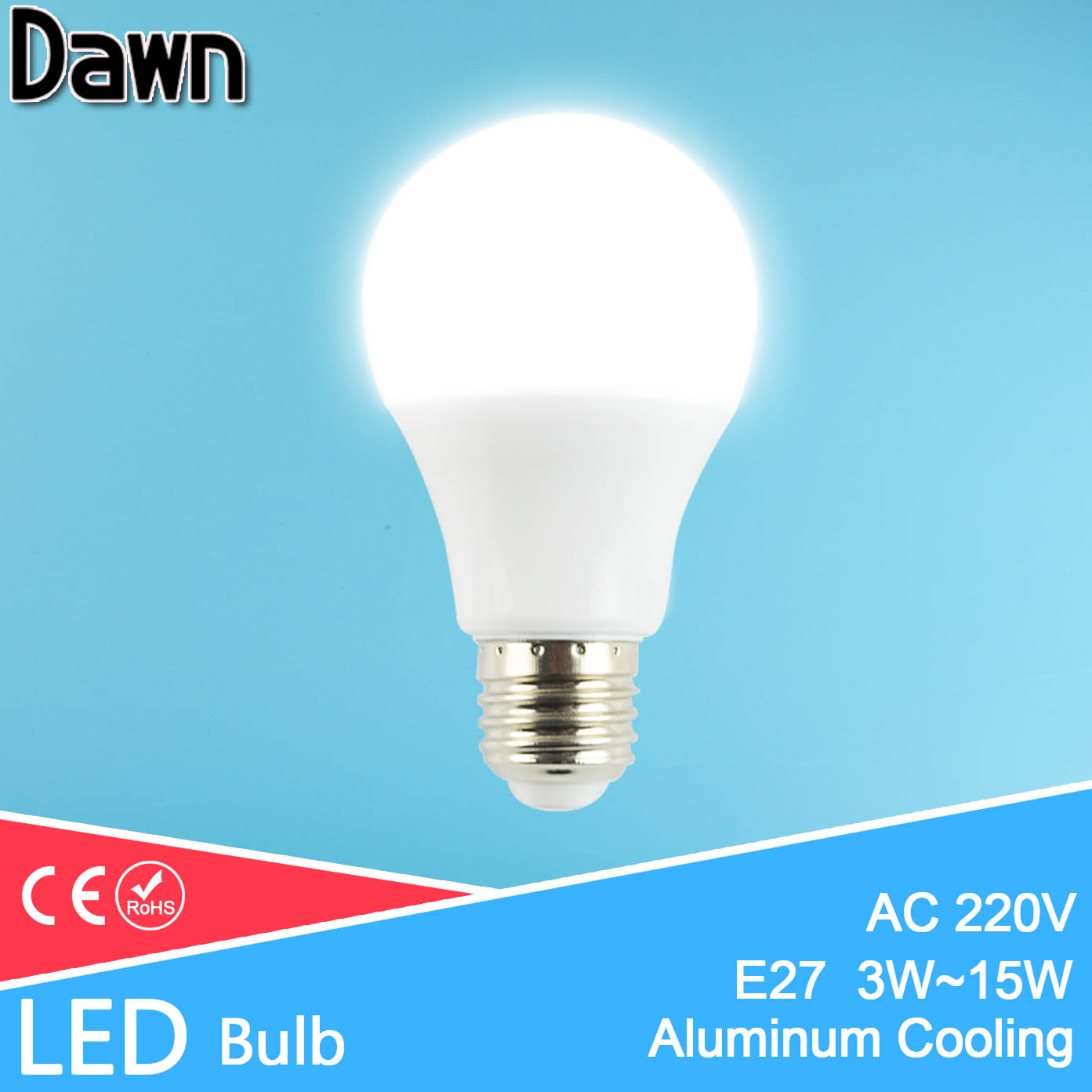 High Bright Aluminum & ABS LED Bulb E27 Lamp Light 3W 5W 7W 9W 12W 15W 220V 240V SMD 2835 Lamparas Bombillas Zarovka Ampoule LED