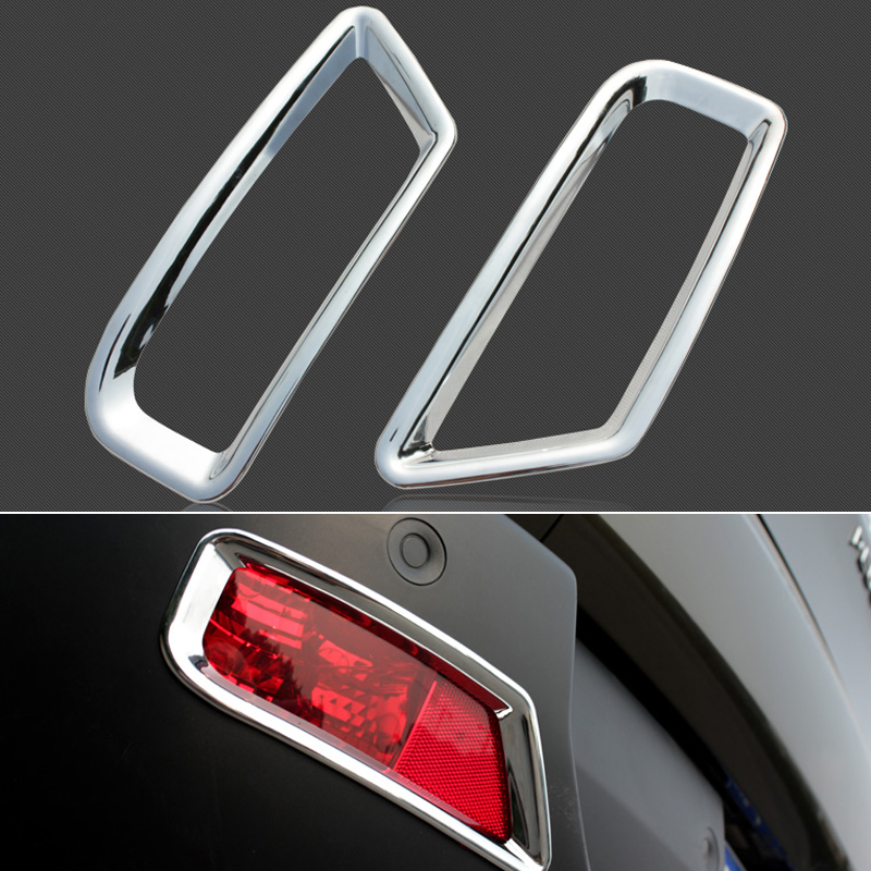 Image 2 - 09 15 Accessories abs  Plastic  Rear  fog light lamp cover  Trim 2pcs for Peugeot 3008 2009 2010 2011 2012 2013 2014 2015-in Interior Mouldings from Automobiles & Motorcycles