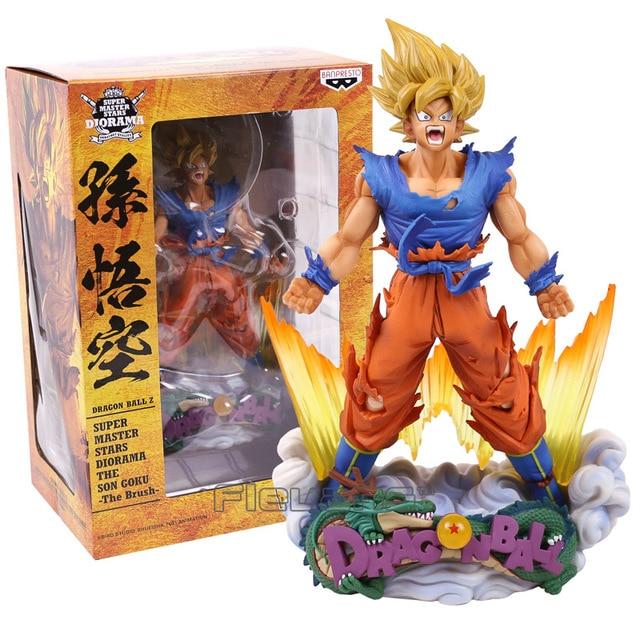 Dragon Ball Z DBZ Super Estrelas Mestre Diorama SMSD A Escova Son Goku PVC Figura Collectible Modelo Toy 24 cm